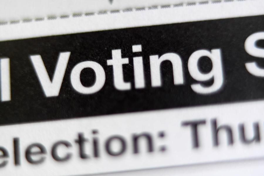 Voting headline text
